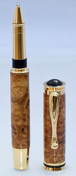 Jr_Retro_Gold_Plated_Rollerball_Made_From_Brown_Mallee