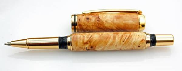 Horse Chestnut on a Gold Plated JR Gents Pen Kit